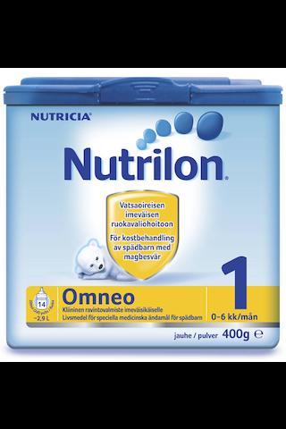 Nutricia Nutrilon 400g Omneo 1 ravintovalmiste imeväisikäisille 0kk alkaen