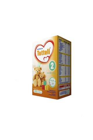 Nutricia Tutteli 600g Plus 2 vieroitusvalmiste...