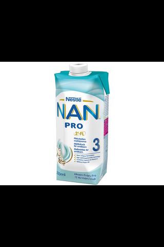Nestlé Nan 500ml Pro 3 käyttövalmis pikkulasten...