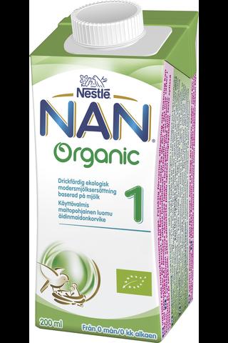 Nestlé Nan 200ml Organic 1 mjölkbaserad...