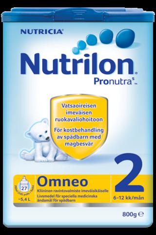 Nutricia Nutrilon 800g Omneo 2 kiininen ravintovalmiste imeväisikäisille 6-12kk