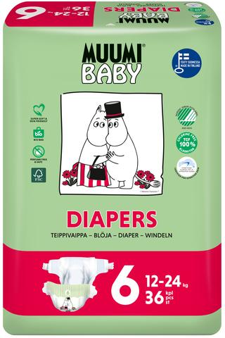 Muumi Baby Diapers teippivaippa 6 –...