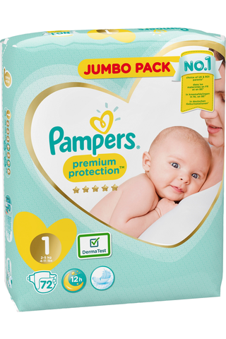 Pampers 72kpl Premium Protection New Baby...