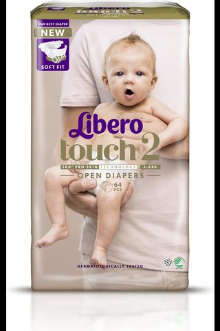 Libero Touch teippivaippa koko 2, 3-6kg 64...