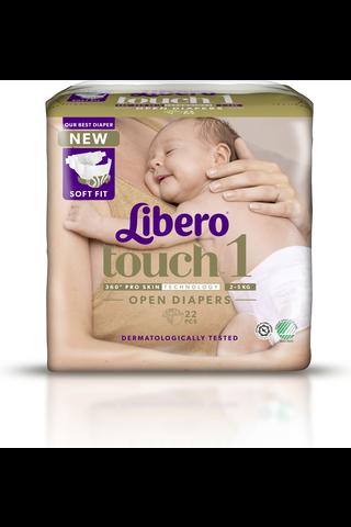 Libero Touch teippivaippa koko 1 2-5kg 22...
