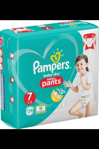 Pampers 29kpl Baby Dry Pants S7 17+ kg housuvaippa