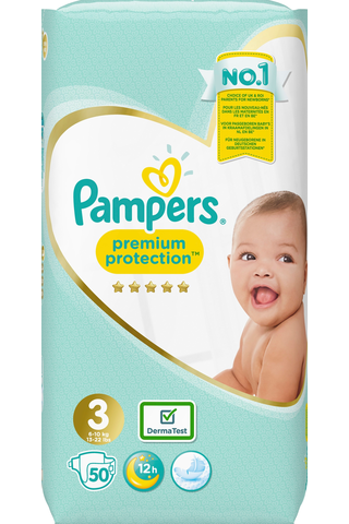 Pampers 50kpl Premium Protection S3 (6-10kg)...