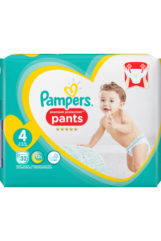 Pampers 32kpl Premium Protection Pants S4...