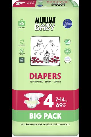 Muumi Baby Diapers teippivaippa 4 –...