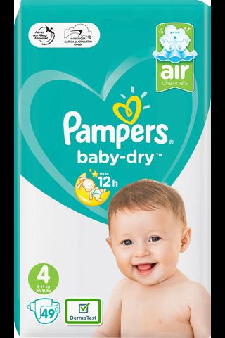 Pampers 49kpl Baby Dry S4 9-14kg vaippa