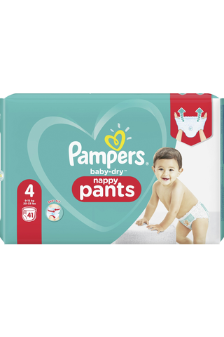 Pampers 41kpl Baby Dry Pants S4 9-15kg housuvaippa