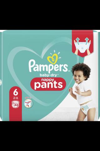 Pampers 33kpl Baby Dry Pants S6 15+ kg housuvaippa