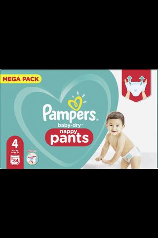 Pampers 84kpl Baby Dry Pants S4 9-15kg housuvaippa