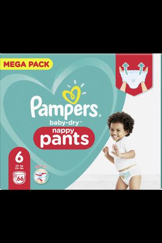 Pampers 66kpl Baby Dry Pants S6 15+ kg housuvaippa