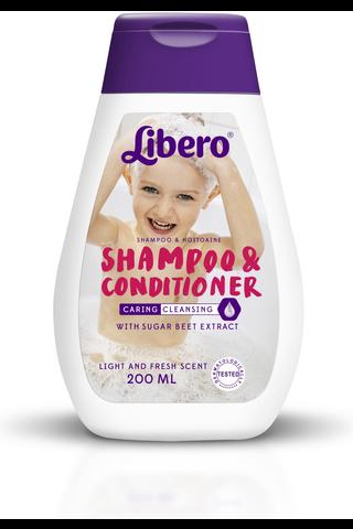 Libero Shampoo/Hoitoaine 200ml