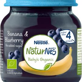Nestlé NaturNes 125g Luomu Banaania ja mustikkaa...