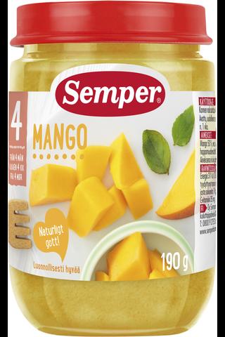 Semper 190g Mangoa alkaen 4 kk lasten hedelmäsose