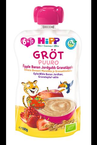 HiPP HiPPiS 100g Luomu Puurosmoothie Omena/Banaani/Mansikka/Granaattiomena...