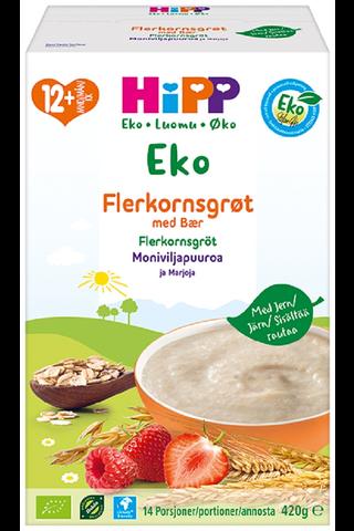 HiPP Luomu Moniviljapuuroa ja marjoja 12kk...